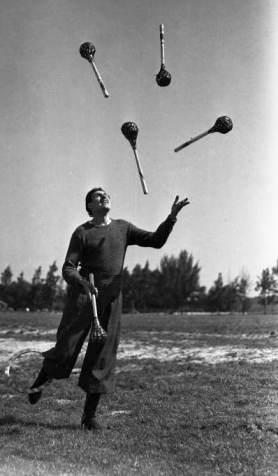 Ringling Juggler Massimiliano Truzzi practices in 1941.
